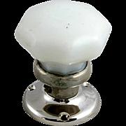 Nickel base milk glass doorknobs
