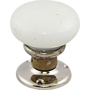 Round milk glass knob and rosette