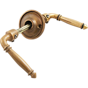 Double sided bronze lever handles