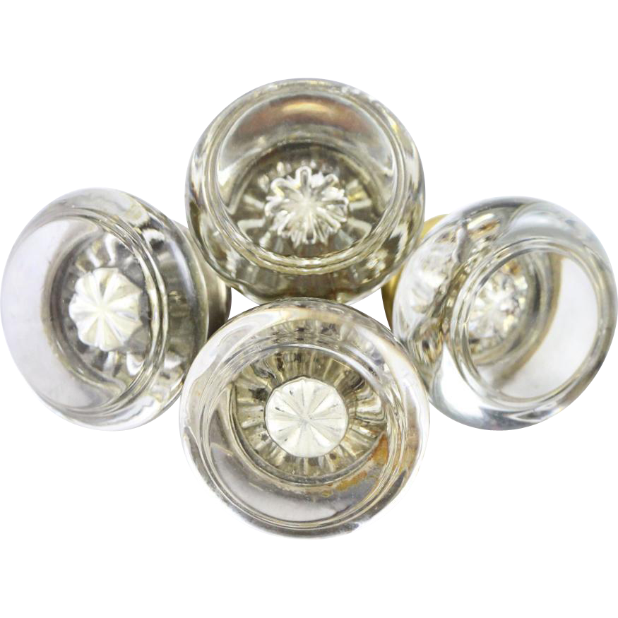 Glass knobs with mercury bullet
