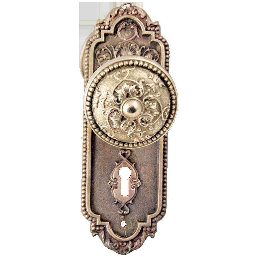 Antique Sargent passage doorknob set