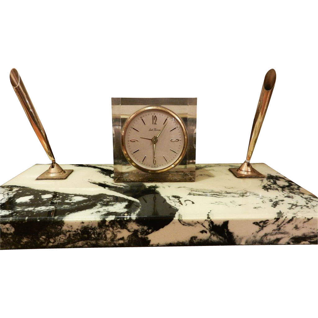 Original Seth Thomas marble desk clock