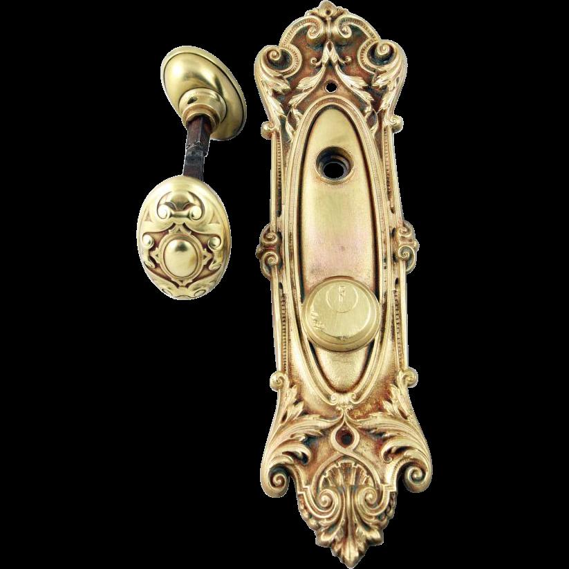 Victorian Meridian oval knob set