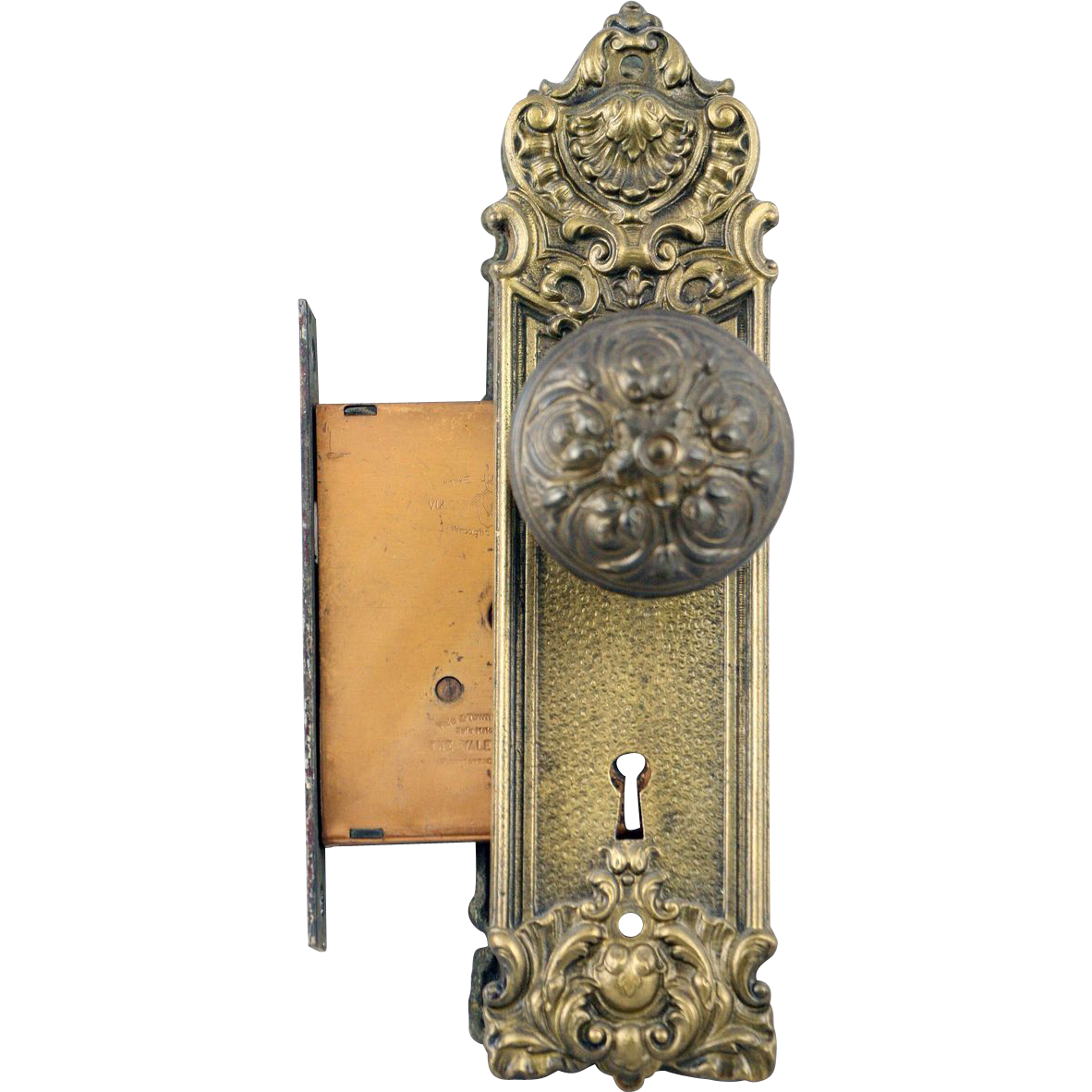 Victorian knob and mortise lock set
