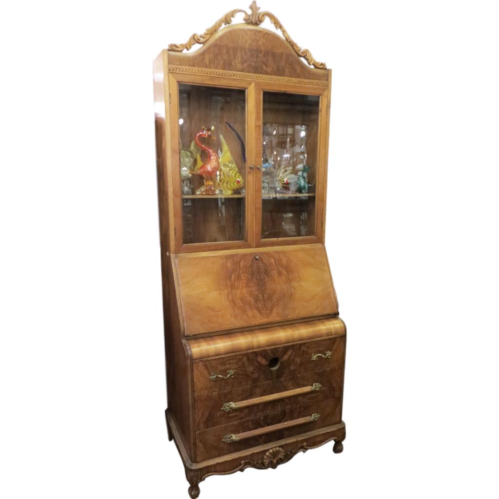Original fruit wood secretary desk