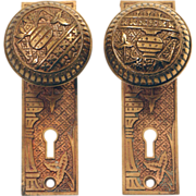 Lockwood complete Vernacular brass knob set
