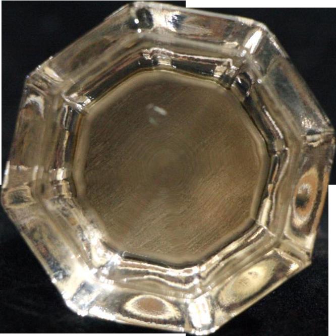 Single clear Depression era glass cabinet knob