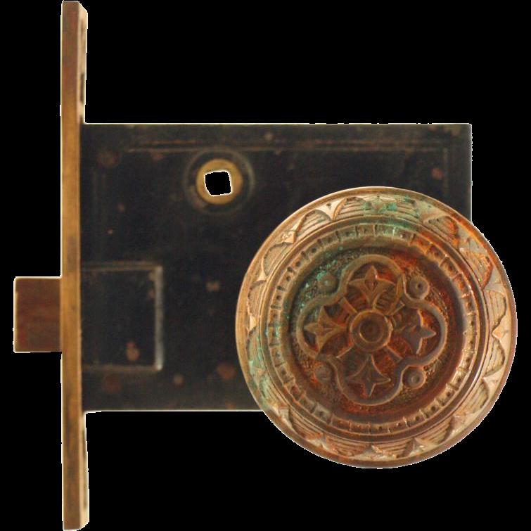 Vernacular bronze knob and lock set