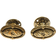 Italian Renaissance bronze doorknob set