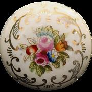 White porcelain hand painted knob