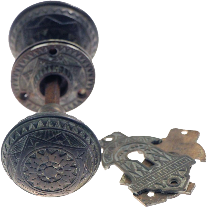 Vernacular bronze knob set by Sargent