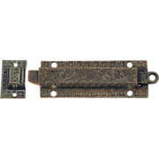 Ornate bronze Victorian bolt latch