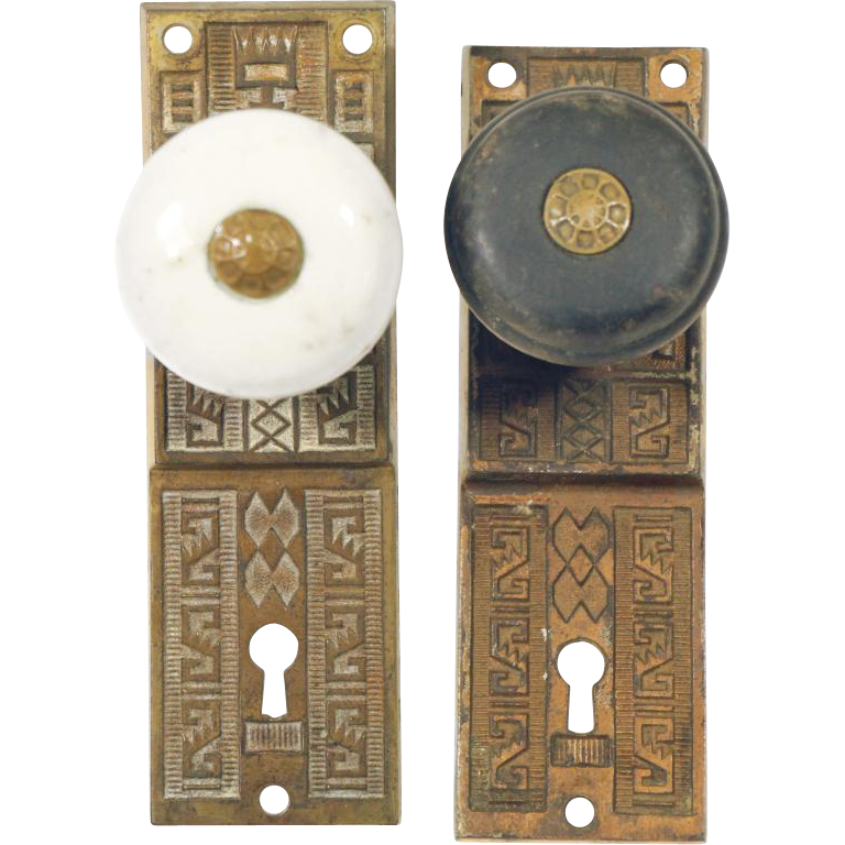 Aesthetic vernacular porcelain doorknob set