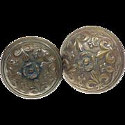 Italian Renaissance bronze door knob set
