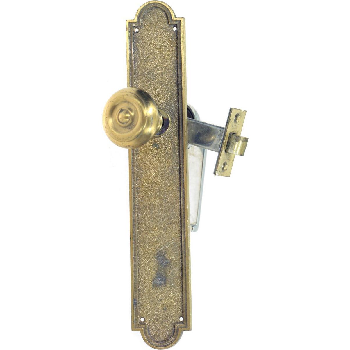Bulls eye brass knob and chrome lever set