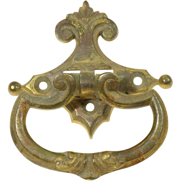 Vintage bronze bail door knocker