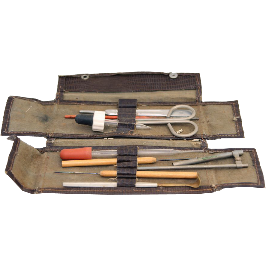 Vintage doctor's tool set