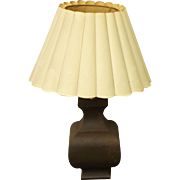 Vintage lamp with white shade