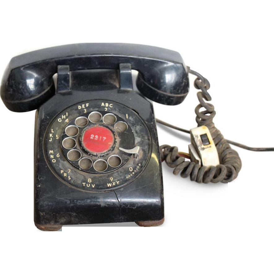 Vintage black ITT telephone