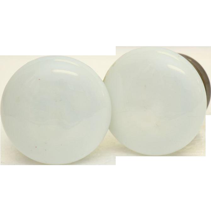 Vintage milk glass knob set
