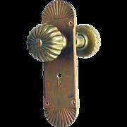 Bronze Falmouth R H Co. fluted knob set