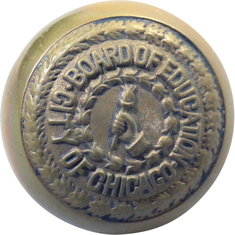 'City of Chicago Board of Education' bronze knob