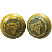 Pair of YWCA bronze knob set