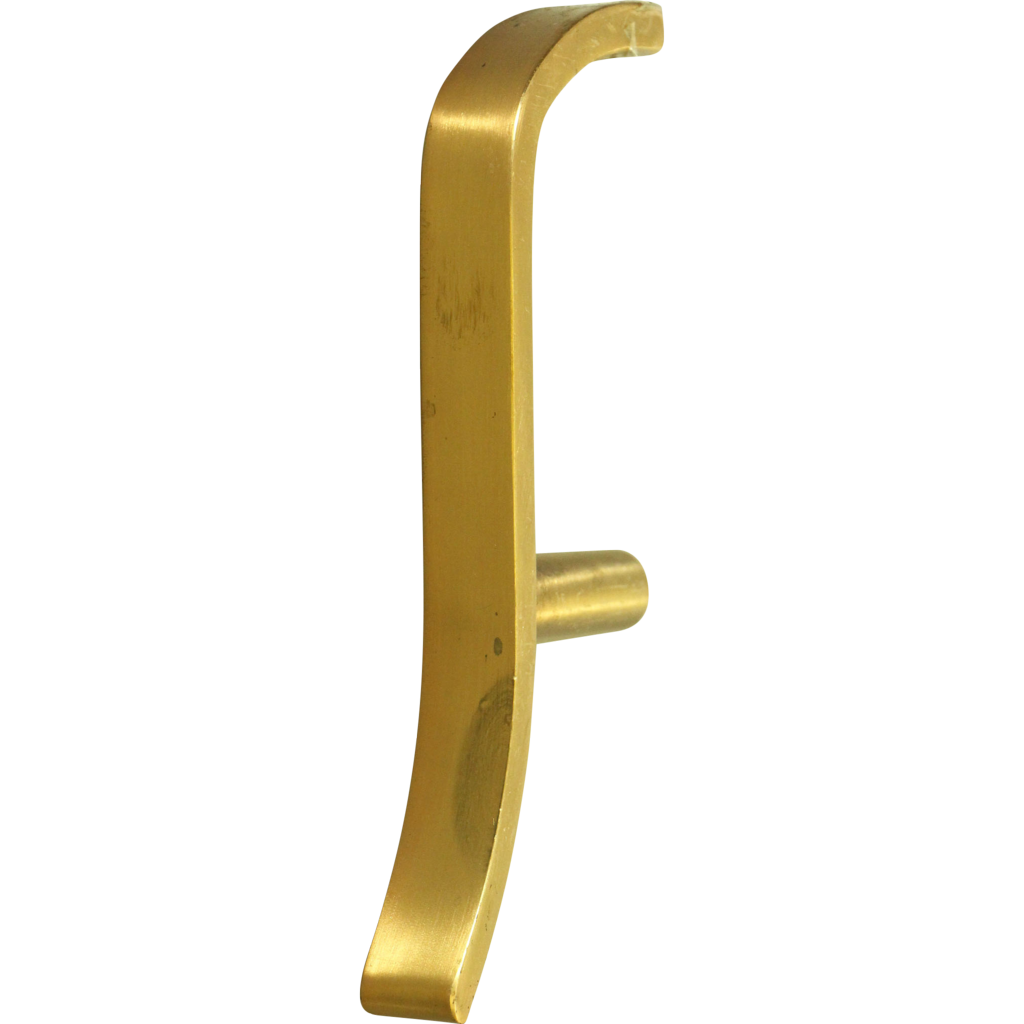 Vintage brass slide door pull