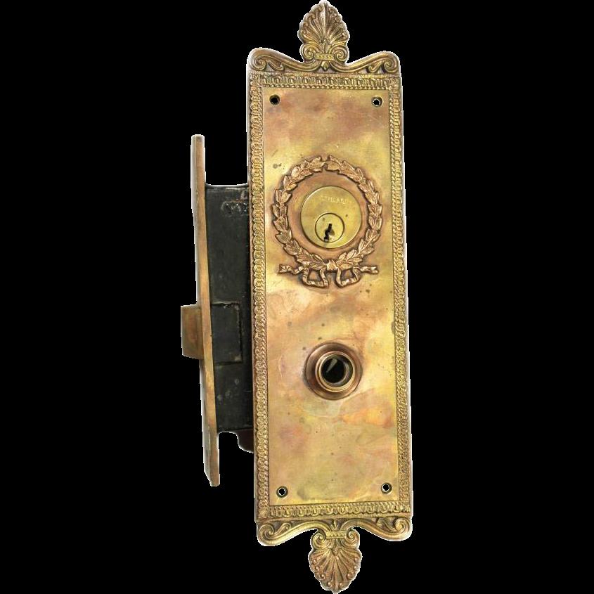 Copper plated Neoclassical door hardware set