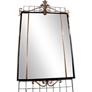 Cast iron rectangular mirror