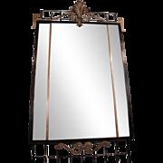 Cast iron rectangular mirror