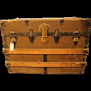 Vintage pine storage trunk