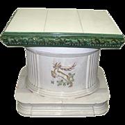 Large scale enameled ceramic plant base