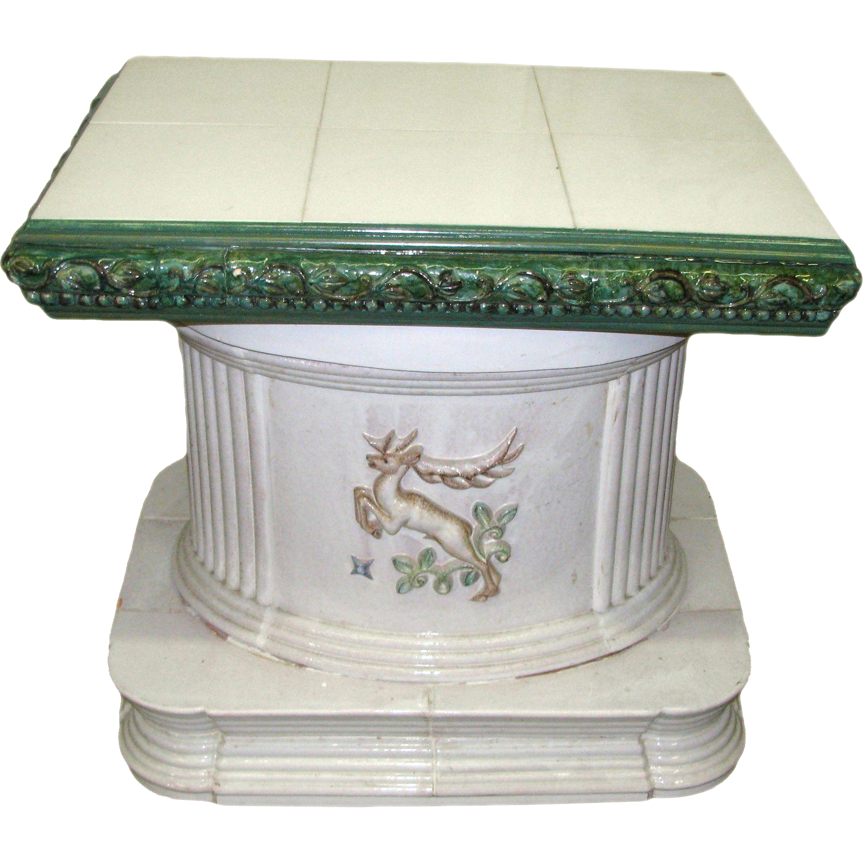 Large scale enameled ceramic plant base