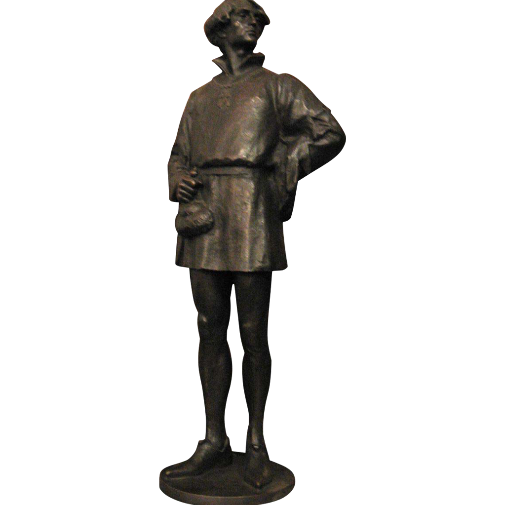1907 Bronze Edelmann signed statue
