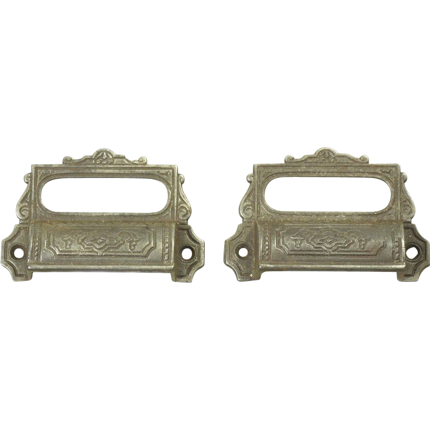 Pair of decorative apothecary cabinet pulls