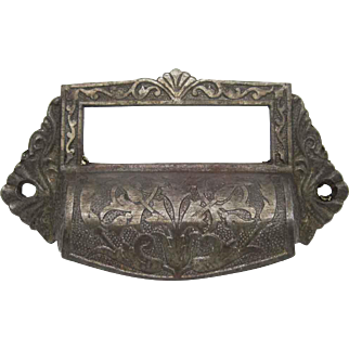 Antique Cast Iron Apothecary Cabinet Pull