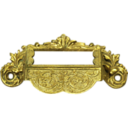 Pretty apothecary cabinet pull with name plate slot