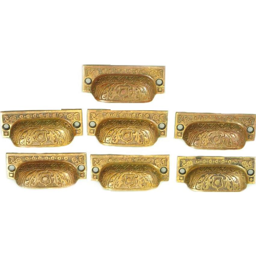 Decorative Bin Pulls : S decorative bronze bin pulls from oldegoodthings on