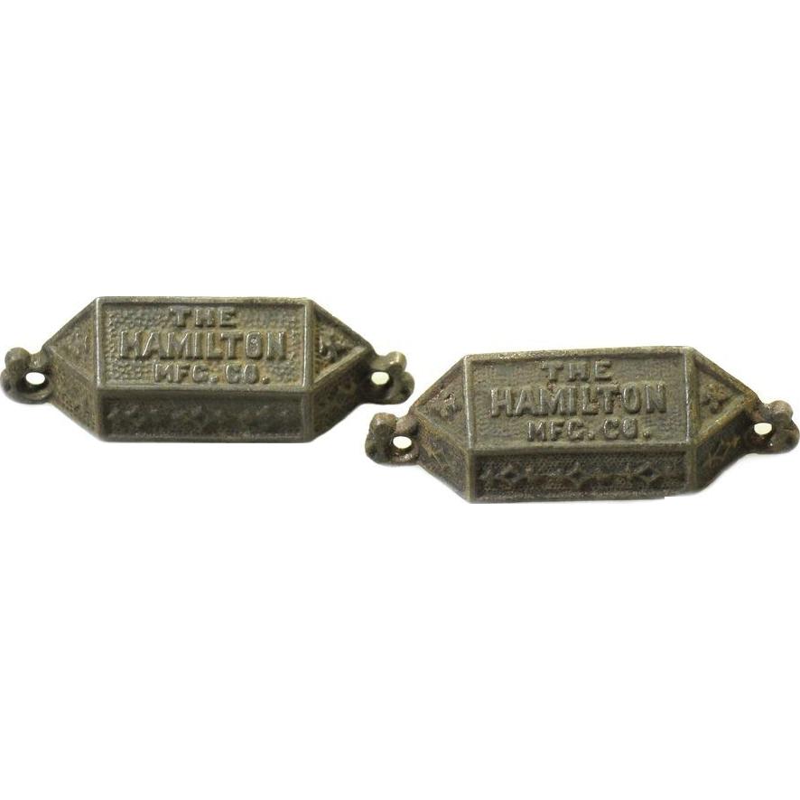 Hamilton Mfg. Co. iron bin pulls