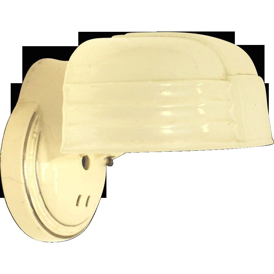 Vintage porcelain and original milk glass light fixture