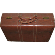 Vintage leather Gladiator suitcase