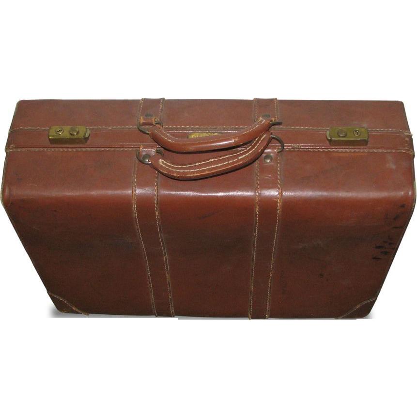 Vintage leather Gladiator suitcase
