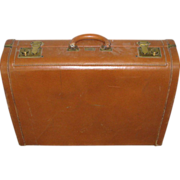 Beckers all leather vintage brief case