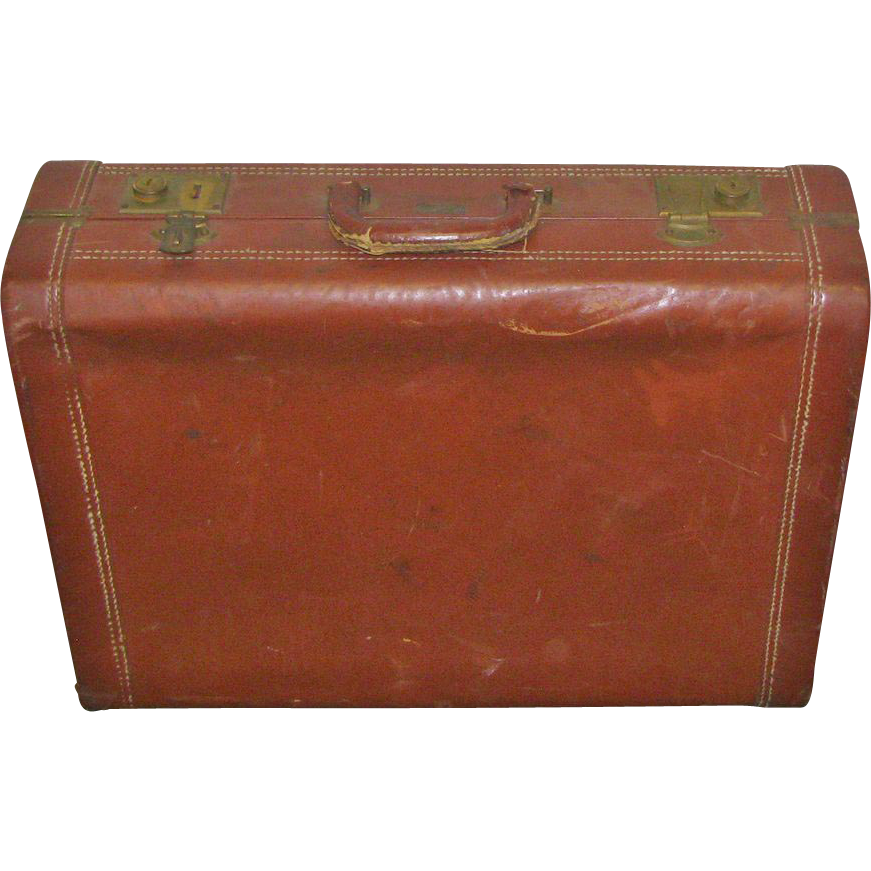 Voyage, NY American leather suitcase