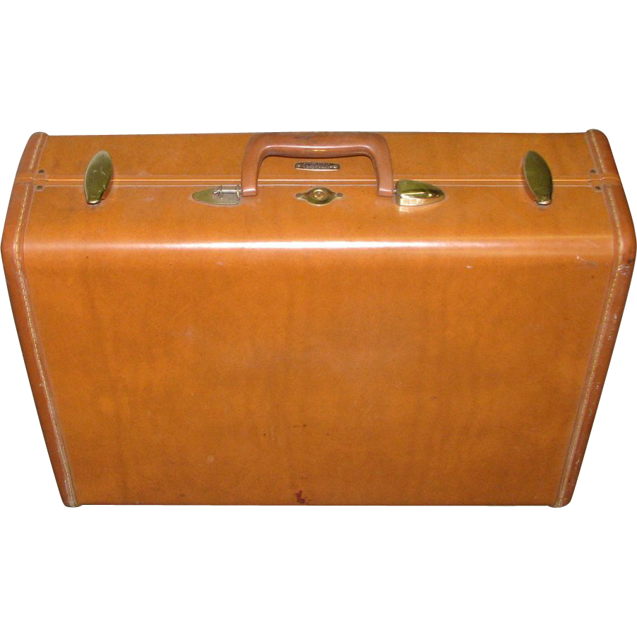 Vintage genuine Samsonite leather suitcase