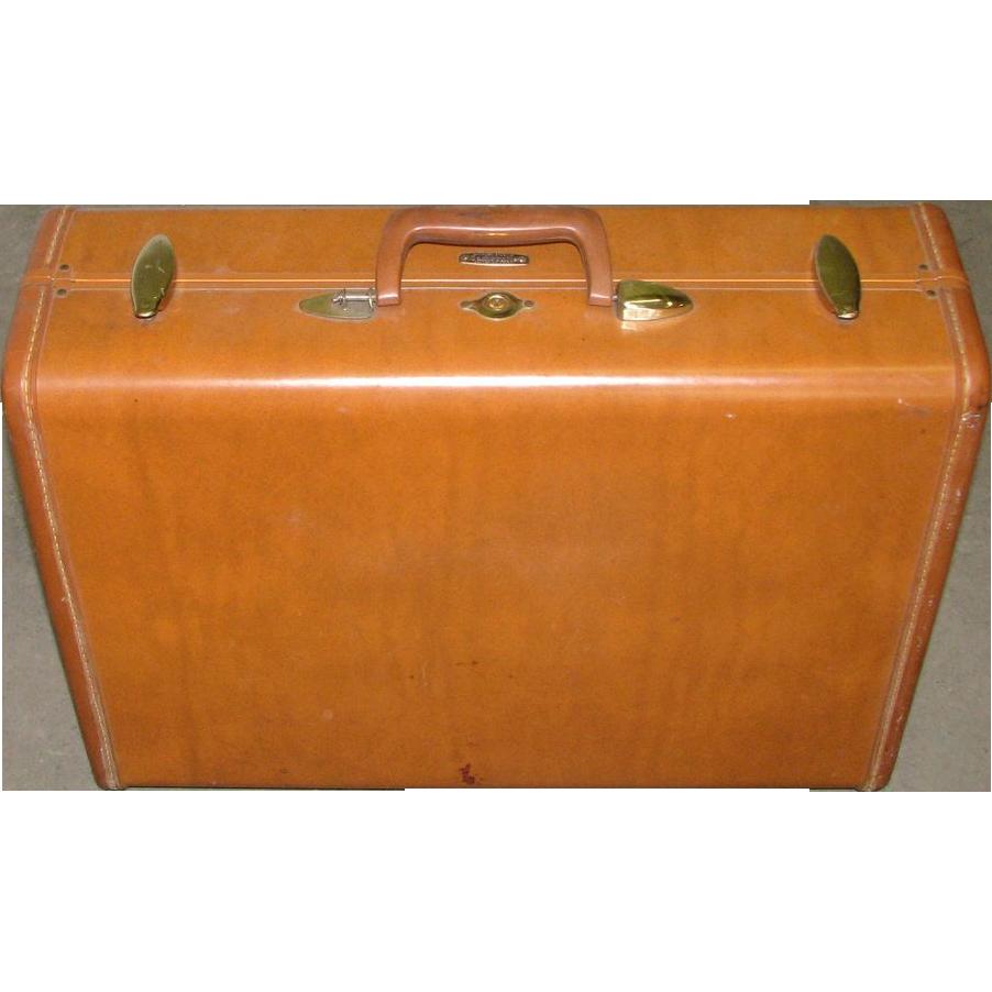Vintage genuine Samsonite leather suitcase