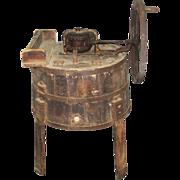 Original antique butter churner