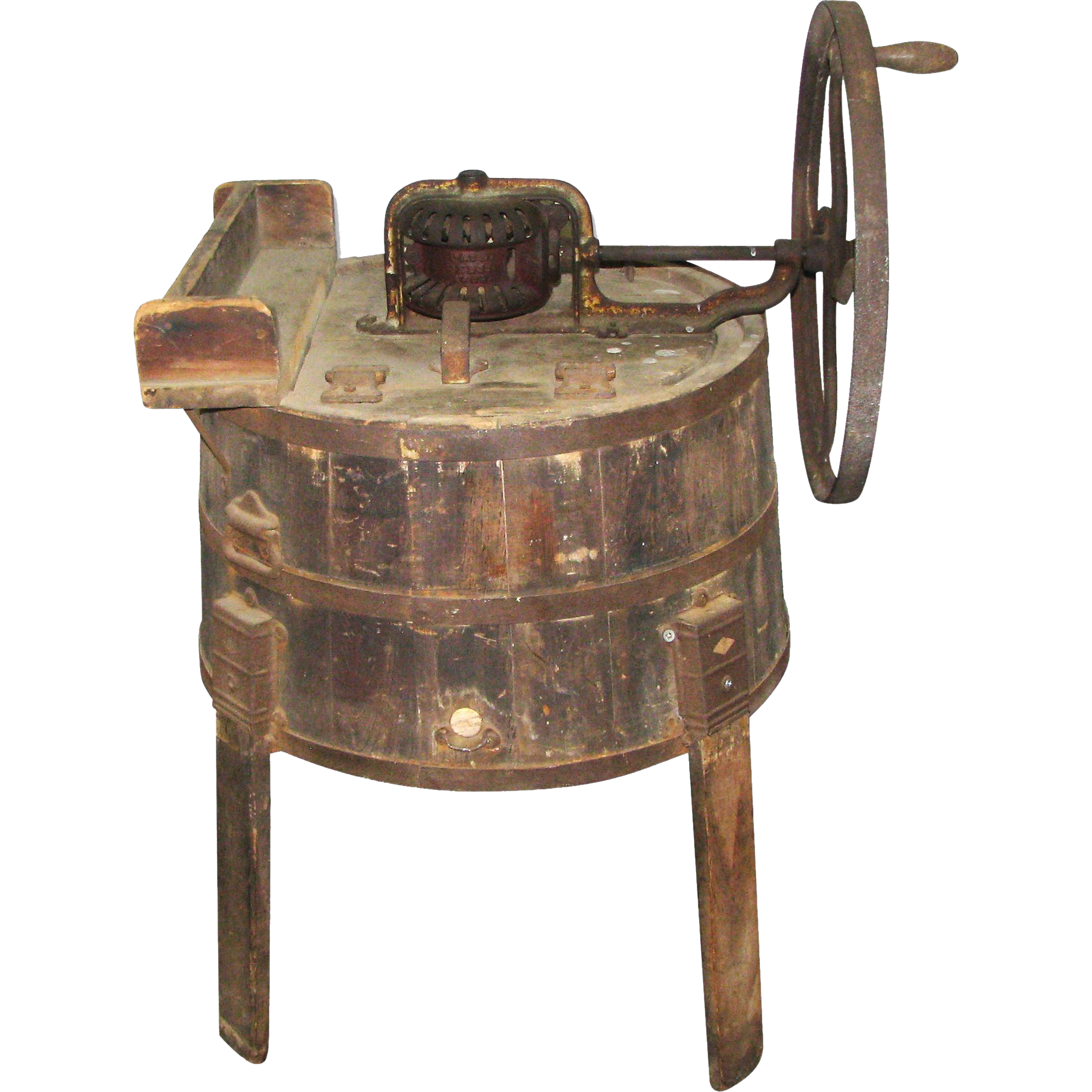 Original antique butter churner