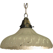 Fluted milk glass pendant lights